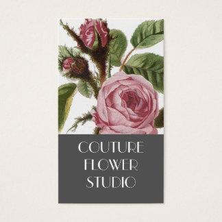 Tarjetas de visita subiós vintage rosado gris del