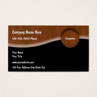 Tarjetas de visita únicas del carpintero