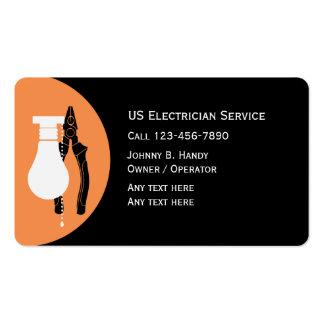Tarjetas de visita únicas del electricista