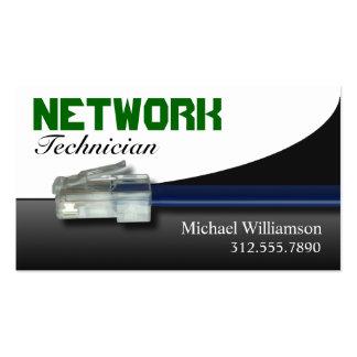 Tarjetas de visita verdes de Ethernet de la