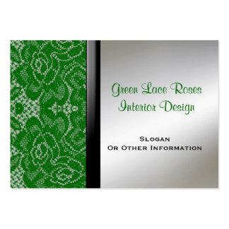 Tarjetas de visita verdes del diseño interior del