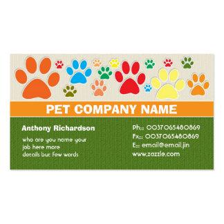 tarjetas de visita veterinarias coloridas del