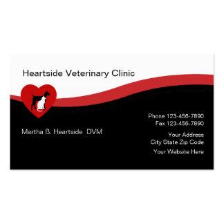 Tarjetas de visita veterinarias del cuidado de