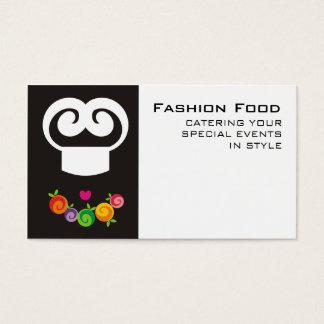 tarjetas de visitas de abastecimiento del cocinero