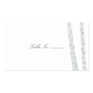 Tarjetas del acompañamiento de la tabla de la tarjetas de visita