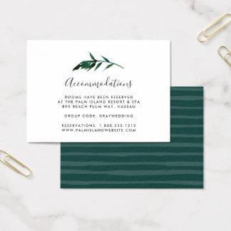 Tarjetas del alojamiento de hotel del boda de la