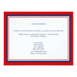 Tarjetas del alojamiento del boda del béisbol invitación 10,8 x 13,9 cm
