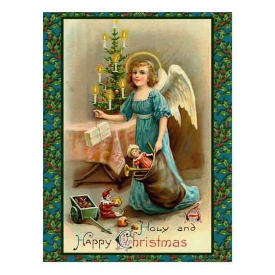 Tarjetas del ángel de las Navidad santas y