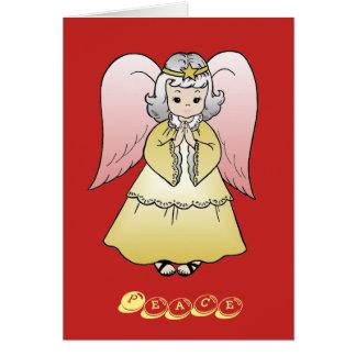 Tarjetas del ángel de los saludos del navidad