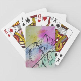Tarjetas del arte de la montaña barajas de cartas