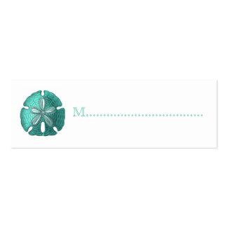 Tarjetas del asiento de la tabla de la recepción d tarjetas de visita