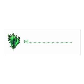 Tarjetas del asiento de la tabla de la recepción d plantilla de tarjeta de visita
