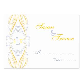 Tarjetas del asiento de la tabla - escritura del m tarjetas personales