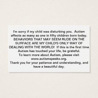 Tarjetas del autismo