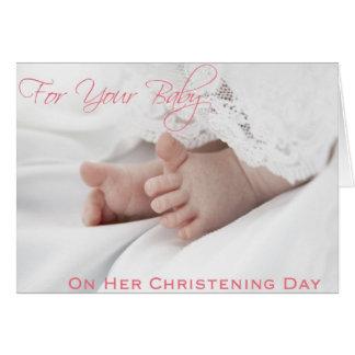 Tarjetas del bautizo/del bautismo para la niña