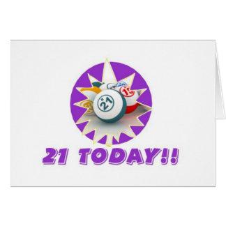 Tarjetas del bingo - 21ro cumpleaños