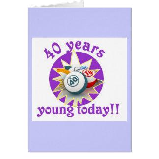 Tarjetas del bingo - 40.o cumpleaños