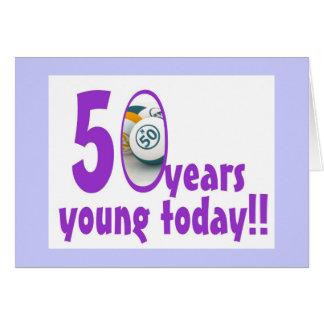 Tarjetas del bingo - 50 o cumpleaños