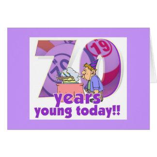 Tarjetas del bingo - 70 o cumpleaños