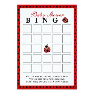Tarjetas del bingo de la fiesta de bienvenida al invitación 8,9 x 12,7 cm