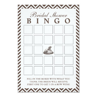 Tarjetas del bingo de señora Hat Chevron Bridal Invitación 8,9 X 12,7 Cm