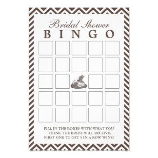 Tarjetas del bingo de señora Hat Chevron Bridal Sh Comunicados