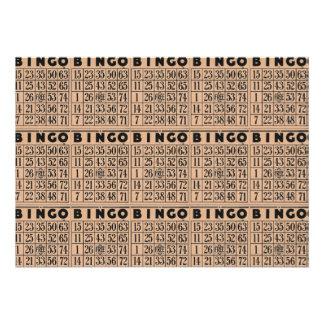 tarjetas del bingo del vintage comunicados