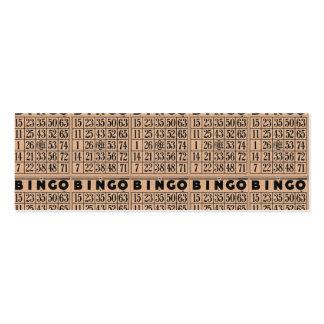 tarjetas del bingo del vintage plantilla de tarjeta personal