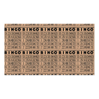 tarjetas del bingo del vintage tarjetas de negocios