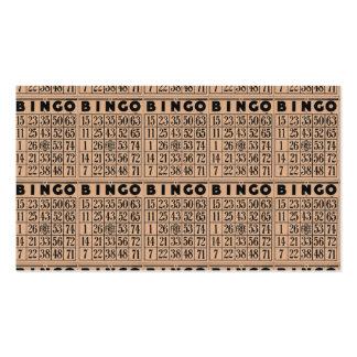 tarjetas del bingo del vintage tarjetas de visita