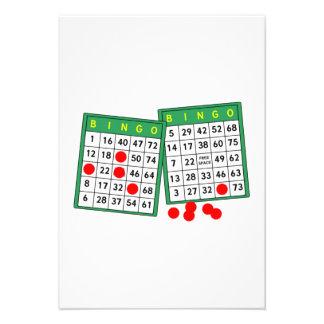 Tarjetas del bingo anuncio personalizado