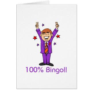 Tarjetas del bingo - mensaje abierto
