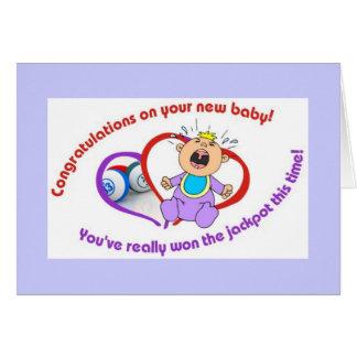 Tarjetas del bingo - nuevo bebé