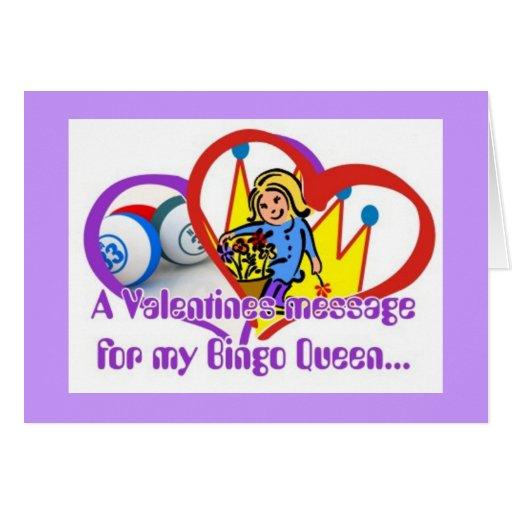Tarjetas del bingo - tarjeta del día de San Valent