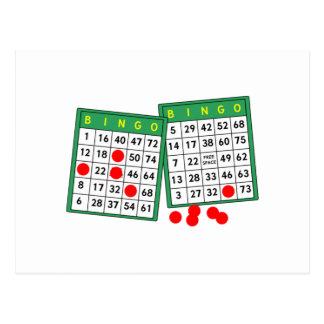 Tarjetas del bingo postales