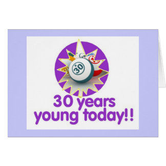 Tarjetas del bingo - trigésimo cumpleaños