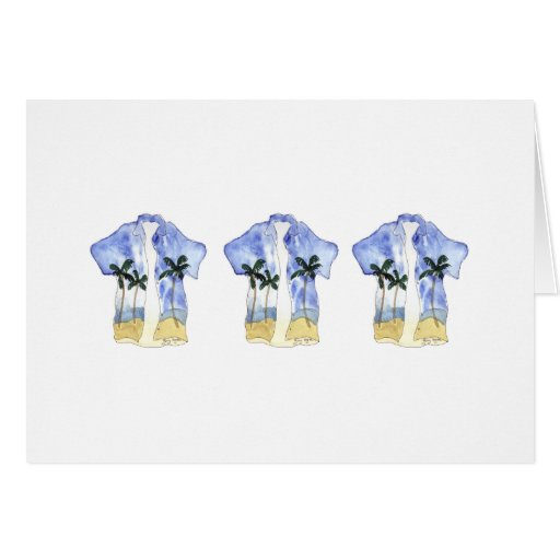 Tarjetas del camisetas hawaiano