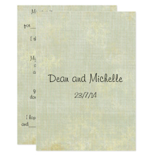 Tarjetas del comentario del consejo del boda de la invitación 12,7 x 17,8 cm
