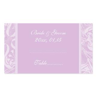 Tarjetas del cubierto de la tabla del boda del tarjetas de visita
