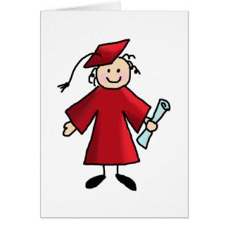 Tarjetas del de agradecimiento de la graduación