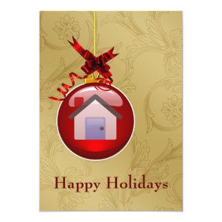 tarjetas del día de fiesta de las propiedades invitación 12,7 x 17,8 cm