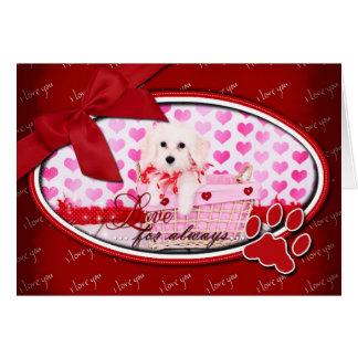 Tarjetas del día de San Valentín - algodón de