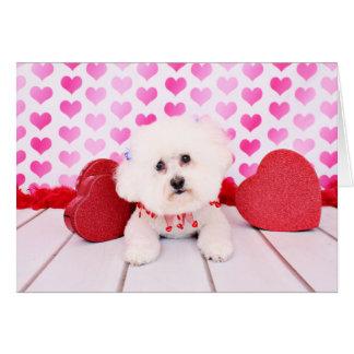 Tarjetas del día de San Valentín - Bichon Frise -