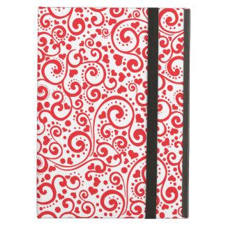 Tarjetas del día de San Valentín - corazones rojos Funda Para iPad Air