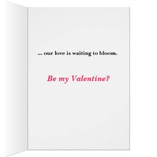 Tarjetas del día de San Valentín del capullo de ro
