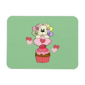 Tarjetas del día de San Valentín del perrito de la Imanes Flexibles