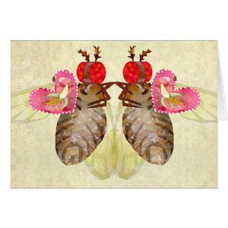 Tarjetas del día de San Valentín del plátano del i