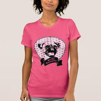 Tarjetas del día de San Valentín - silueta del Camiseta