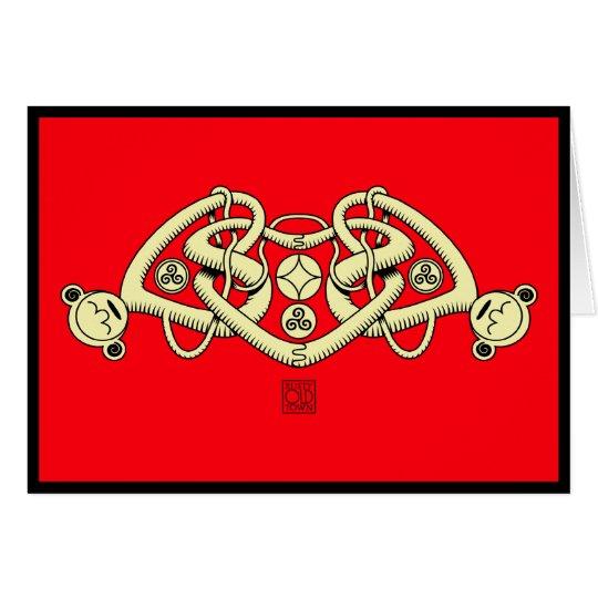 Tarjetas del día de San Valentín triples célticas