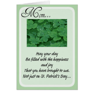 Tarjetas del día de St Patrick para la mamá